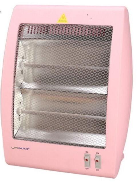 Unimax Second Stage Quartz Tube Heater Pink 220v 900w Safe Temperature Control