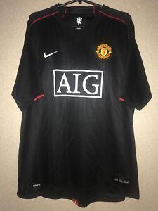 brand new 5724a 6ae5d Details about MANCHESTER UNITED 2007/2008 AWAY FOOTBALL SHIRT JERSEY NIKE  RONALDO ERA