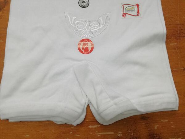 3er Pack Damen Slips mit Bein Unterhosen Baumwolle weiß Schlüpfer Applikation