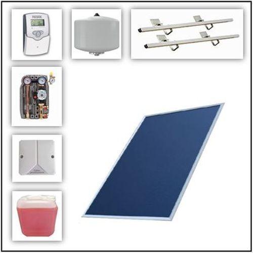 Solaranlage 7,65 m² Solarpaket Brötje m. Flachkollektor SolarPlan FK 25 RC