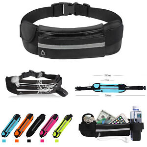 NEW Unisex Running Belt Sport Jogging Key Phone Money Bum Bag Waist Travel Pouch
