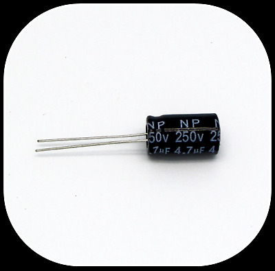 Imported 5 Pieces 250V 10uF Radial Electrolytic Capacitors