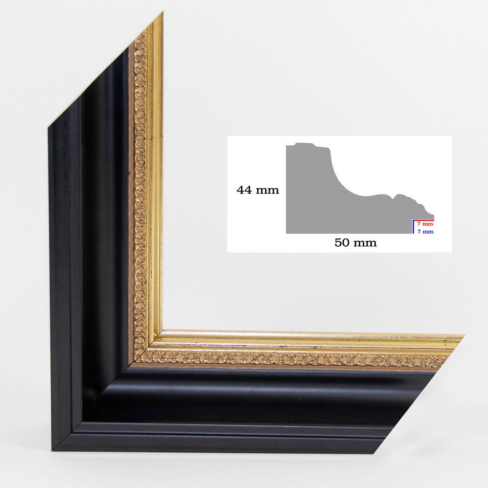 Barock Bilderrahmen  Himera   107x53   53x107 cm mit Rückwand u. Acrylglas