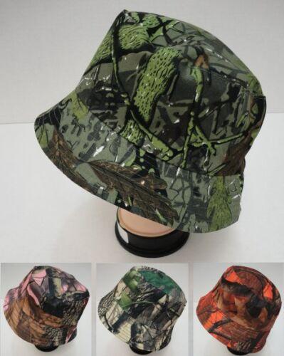24 Lot Camouflage Hardwood Leafy Tree Camo Bucket Hats for Fishing /& Hunting