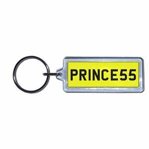 PRINCESS UK Number Plate Key RingChoose Medallion Plastic Metal