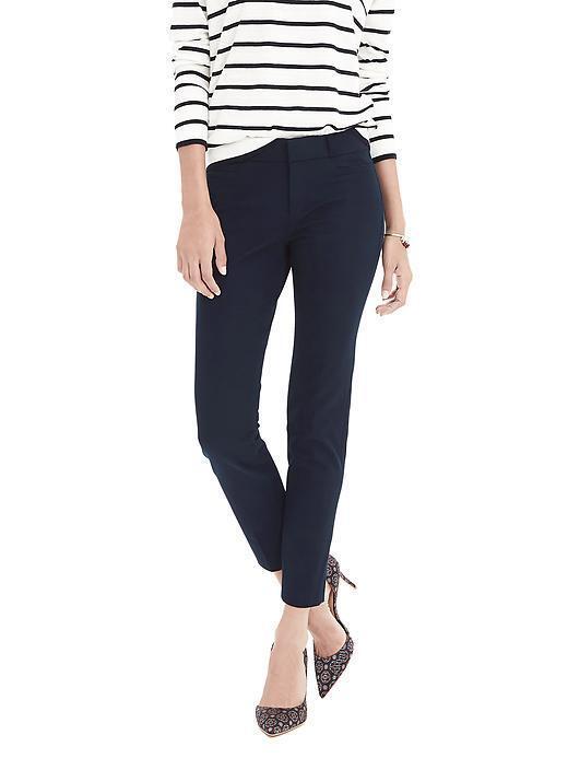 NWT Banana Republic Sloan-Fit Solid Pant, Navy SIZE 8 R      E922 E1215
