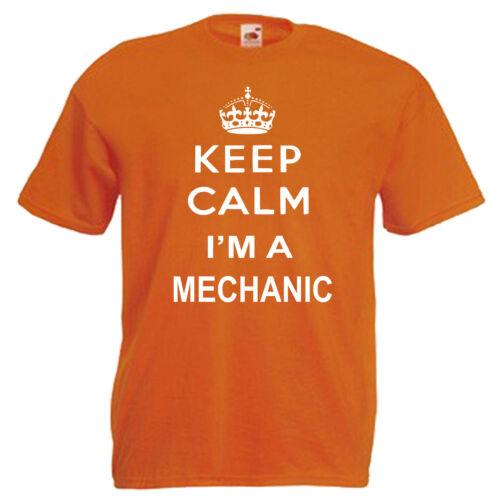 Keep Calm Mechanic Car Slogan Adults Mens T Shirt 12 Colours Size S 3XL