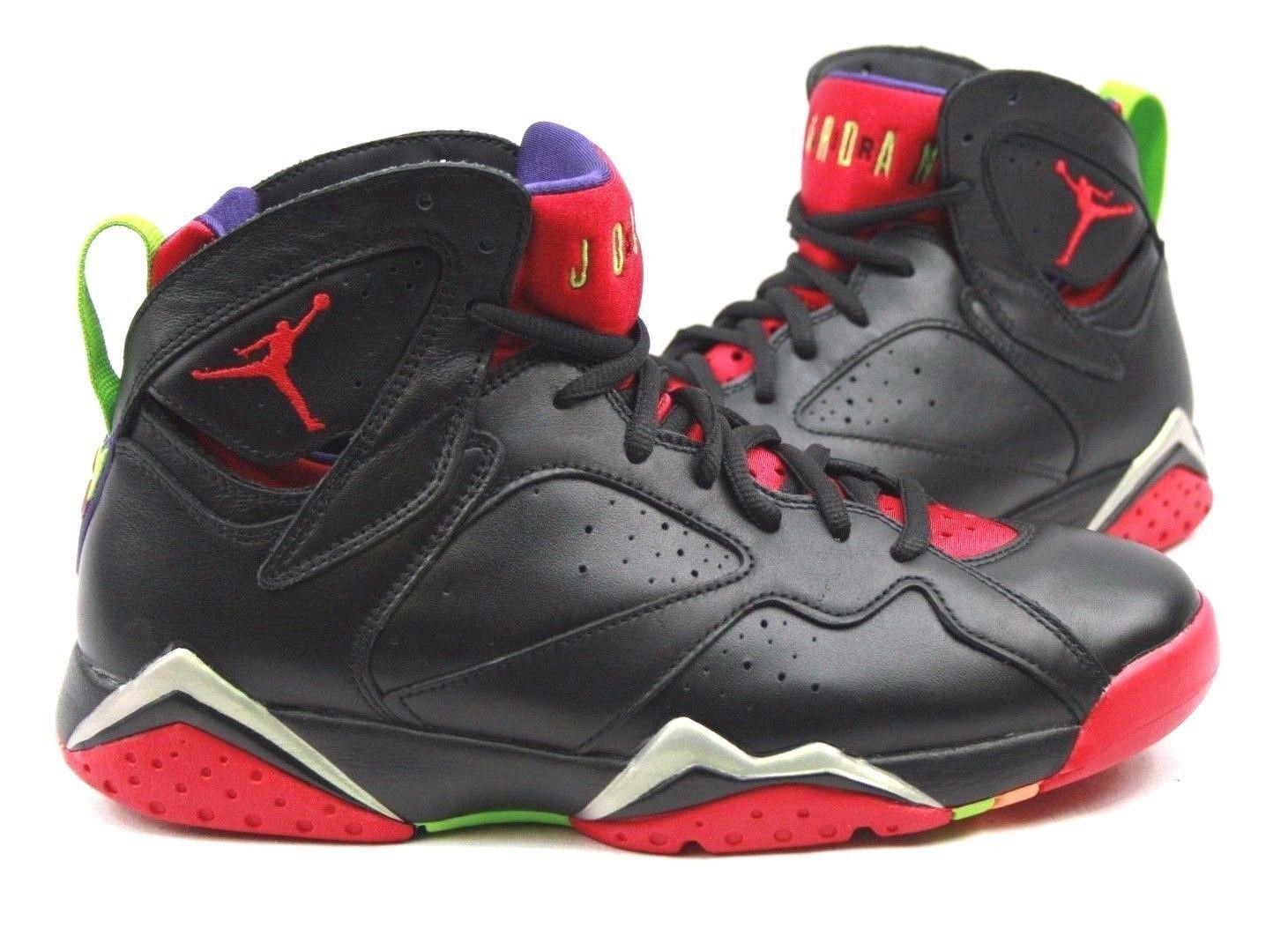Nuevo Nike de Jordan 7 Retro Zapatos de Nike baloncesto Air Negro/Rojo/Verde 304775-029 a6e838