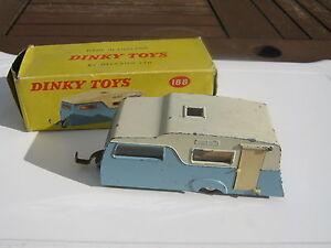 Dinky 188 Caravan Original Légèrement Joué Dans Une Boîte Volant Extérieur Absent