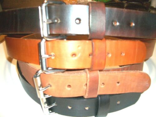 """HEAVY DUTY S.S BUCKLE REAL LEATHER WORK BELT   TOOL HOLSTER HAND MADE 1.1//2/"""" W"""