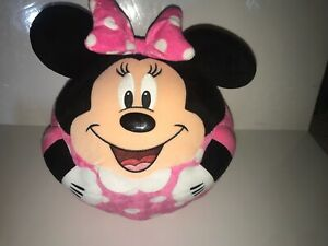 "Minnie Mouse Beanie Ballz Large Round Ball Plush Pillow 2013 TY 13-15"""