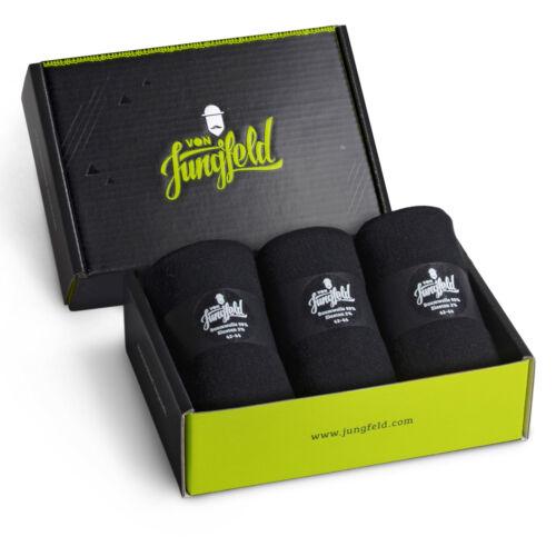 von Jungfeld Socken schwarz Geschenkbox NEU in Deutschland hergestellt