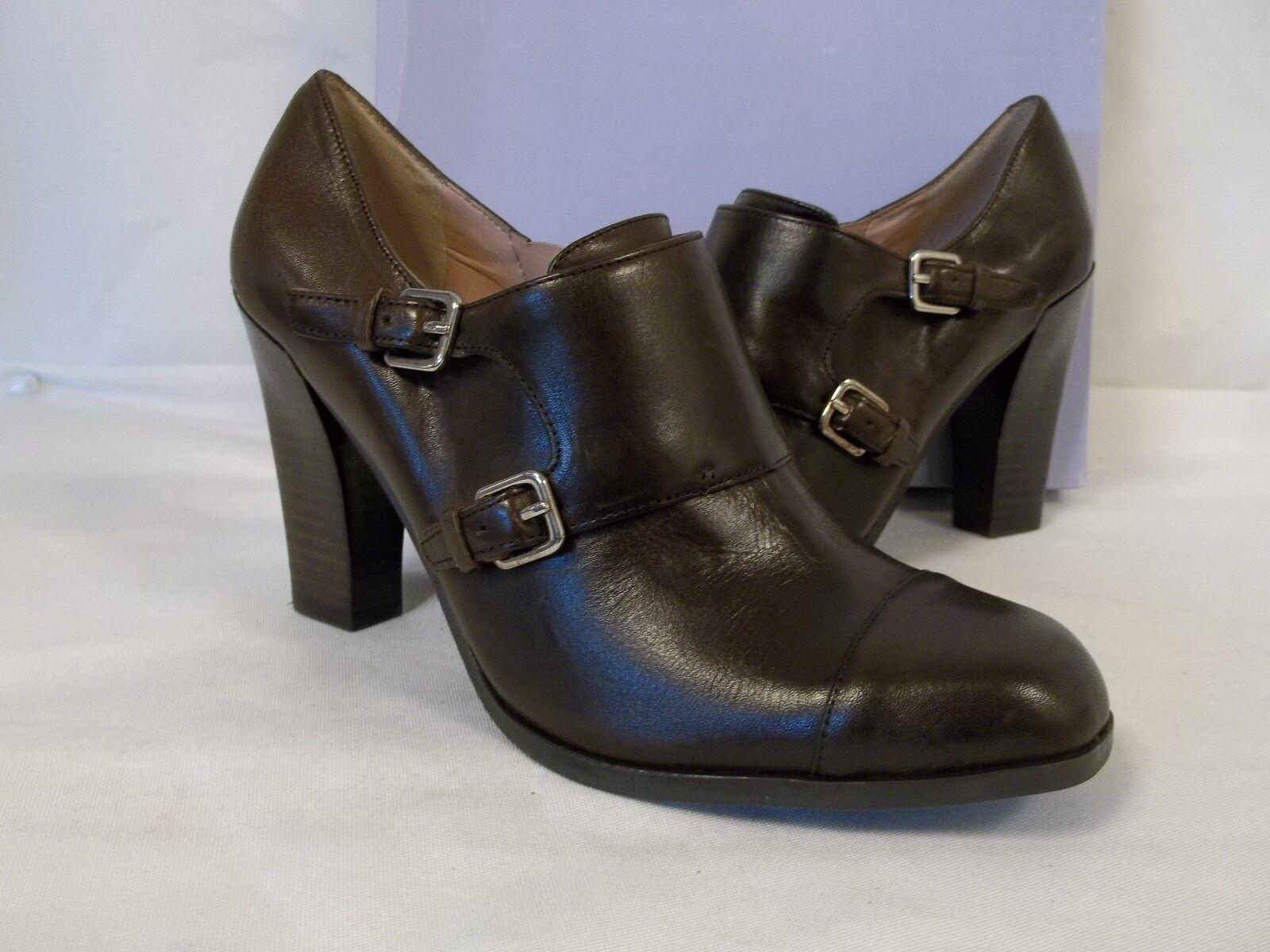 Marc Fisher Taille 8 M Sauce Dark marron Leather Heels New femmes chaussures