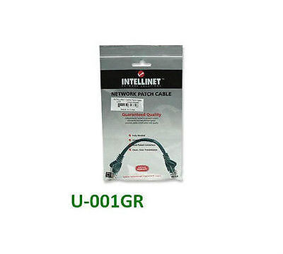 1-Feet 347488 Intellinet Network Solutions Cat5e RJ-45 Male//RJ-45 Male UTP Network Patch Cable