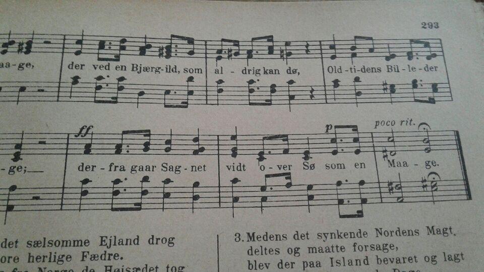 Danske sange med noder, Danmarks melodi bog 1 del
