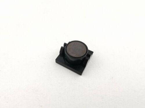 Lego® Magnet 73092 und Halter 2609 in schwarz black 2x2 Magnethalter