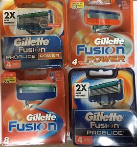 gillette fusion proglide manual blades 8 pack