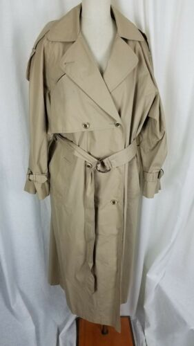 Talbots Trench Donna cintura Classic doppio con Long Coat 16 petto Top Maxi Cape RrqRO