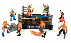 WWE-Raw-Smack-Down-Wrestling-Ring-Playset-With-12-Figure-Kids-Action-Ring-Toy