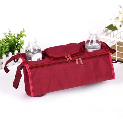 1X Baby trolley storage bag organizer stroller buggy pram cup holder bags 0U W0H
