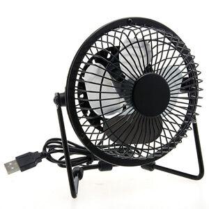 Mini ventilateur bureau usb portable pour ordinateur pc portable angle ajustable ebay - Mini ventilateur de bureau ...