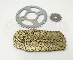 Heavy-Duty-Chain-amp-Sprockets-Set-GOLD-to-fit-Kinroad-XT125-16-Cyclone