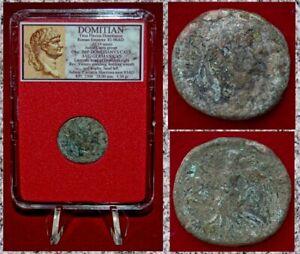 Ancient-Roman-Empire-Coin-Of-DOMITIAN-Victory-On-Reverse-RARE-JUDAEA-CAPTA-Group