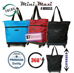 Image Is Loading Expandable Lightweight 4 Wheel Folding Ping Bag Travel