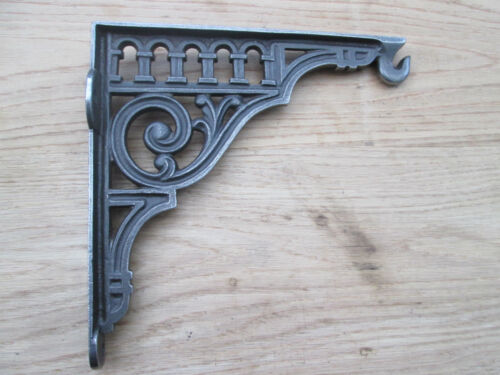 25.4cm Cast Iron Art Full Vintage Fancy Shelf Support Book Cistern Bracket