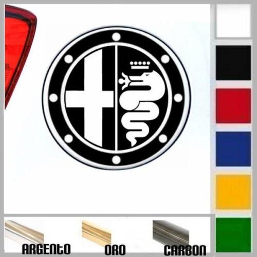 adesivo sticker tappo benzina diesel ALFA ROMEO tuning prespaziato,auto