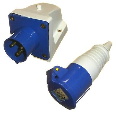 16 amp 3 pin plug /& coupler trailing socket waterproof IP44  240V 16A caravan
