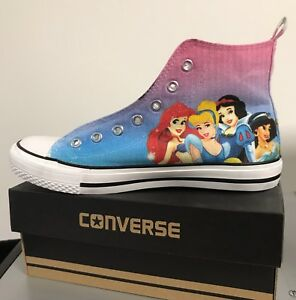 68b68471ec1b Image is loading Disney-Princesses-Kids-Custom-Converse -Shoes-Character-Personalised-
