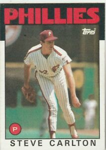 FREE-SHIPPING-MINT-1986-TOPPS-STEVE-CARLTON-120-PHILLIES-PLUS-BONUS-CARDS