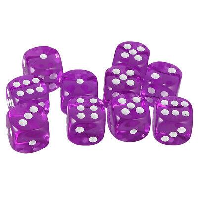 10pcs Orange Acrylic D6 Dice Cubes for D/&D Party Bar Poker Liar/'s Dice Games