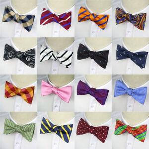 Luxury-Man-Self-Tied-Bow-Tie-silk-Stripes-Plaids-Tuxedo-Bowtie-Wedding-Neckties
