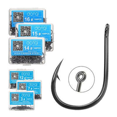 50Pcs//100Pcs//Lot Fishing Hooks High Carbon Steel Sharpened Fishing Hook With Box