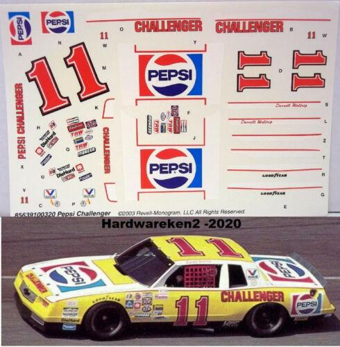 NASCAR DECAL #11 PEPSI CHALLENGER 1983 MONTE CARLO DARRELL WALTRIP 1//24