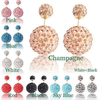 Hot Selling Double Faced Earrings - Pearl Ear Stud - Big Beads Jewelry Earrings