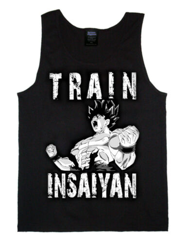 Goku Mens Bodybuilding Tank Top T-Shirt Stringer Muscle Gym Dragon Ball Z