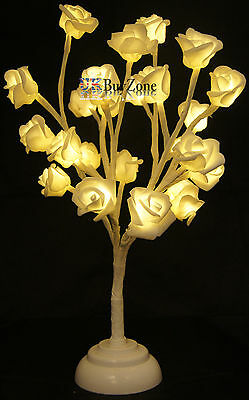24 LED Rose Blossom Bonsai Tree Table Lamp Wedding Christmas Decoration Lights