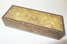 ANCIENNE BOITE A BIJOUX COUTURE le lever et le coucher JEWELRY OR SEWING BOX