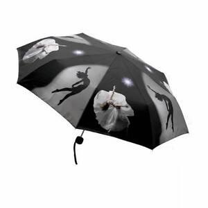 Black Ballet Dance Dancing Folding Umbrella Christmas Birthday Present UMF-01