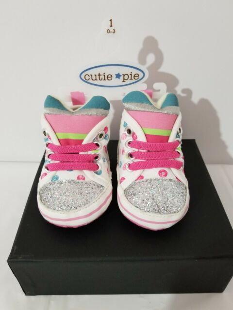 Baby Girl Tennis Shoes (Brand Cutie Pie) Size 1 High Top