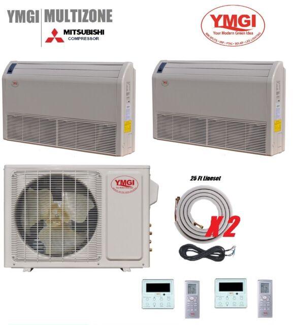 Ymgi 18000 Btu 2 Zone Mini Split Ductless Air Conditioner