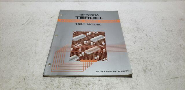 1991 Toyota Tercel Dealer Service Electronic Wiring