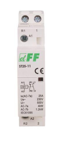 F/&F ST25-11 SCHÜTZ SCHALTSCHÜTZ Modular Contactor Elektromagnetisch Relais 230V