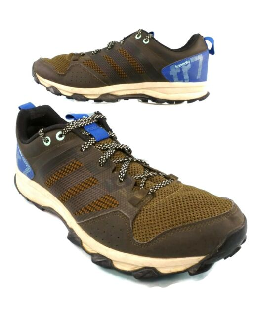 Adidas Kanadia TR 7 Trail Running Shoes Mens Size 10 Brown Blue