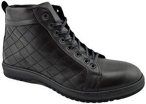 200-REACTOR-noir-cuir-veau-matelasse-Bottines-Hommes-Chaussures