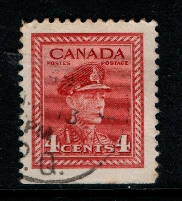Canada 1942 1948 King George VI 4c booklet SG396 Used