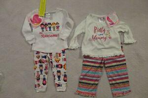 Youngland-Baby-Toddler-Girls-2-Piece-Pajamas-Set-18-Mo-NWT-Cartoon-Floral-NEW